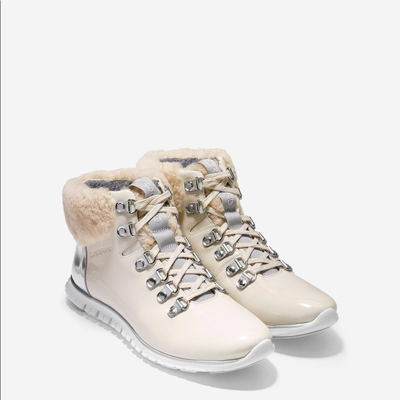 b16f68631d4 Cole Haan women's zerogrand Hiking boot shearling NWT